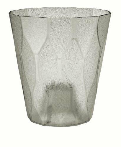 Blumentopf ROCKA P transparent eisgrau 17,0 cm