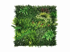 Kunstblumenpaneel Mix - 100x100 cm