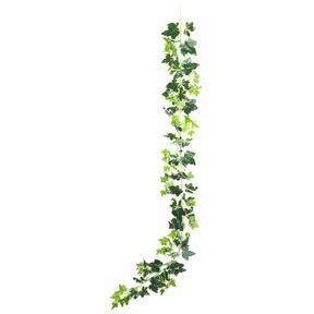 Künstliche Girlande Efeu weiß-grün 190 cm