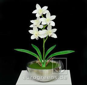 Künstliche Pflanze Orchidea Cymbidium Creme 50 cm
