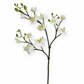 Künstlicher Orchideenzweig weiß 60 cm