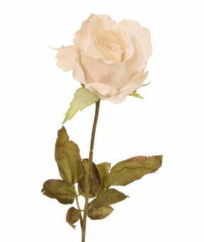 Künstlicher Zweig Creme Rose 60 cm