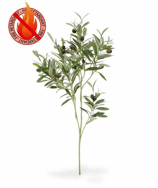 Künstlicher Zweig Olivenbaum mit Oliven 90 cm