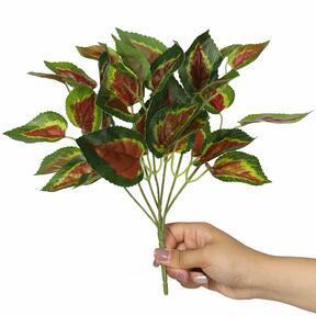 Kunstpflanze Basilikum rot 25 cm